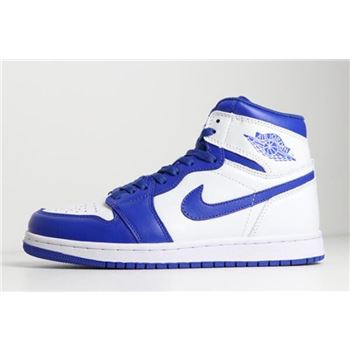 New jordan white grey low cut Mid Hyper Royal White/Hyper Royal 554724-114