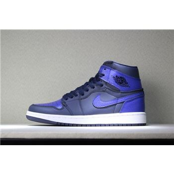 Air Jordan 1 Mid Pairs Obsidian And Royal Obsidian/Summit White-Game Royal 554724-412