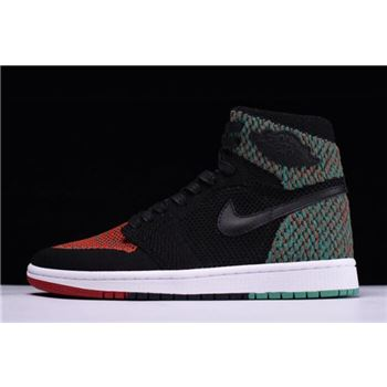 jordan white grey low cut Retro High Flyknit BHM Black/Lucid Green/University Red-Black AA2426-026