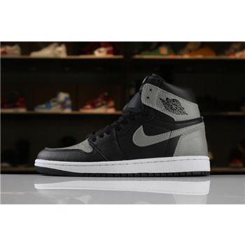 Men's Size new nike air force one 2015 Retro High OG Shadow Black/Medium Grey-White 555088-013