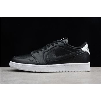 Air Jordan 1 Retro Low OG Premium Cyber Monday Black White 705329-010