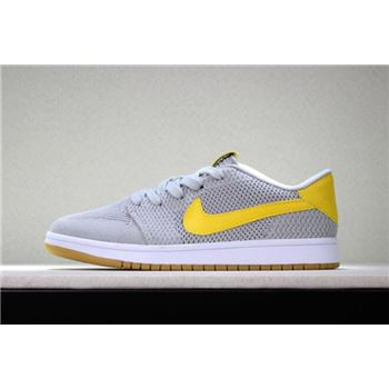 New nike mercurial first copy and blue eyes free Low Flyknit Wolf Grey/Yellow-Gum Men's Basketball Shoes