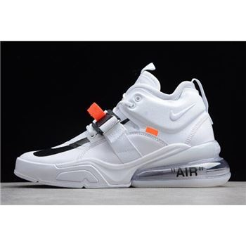 Mens Nike Air Force 270 White Black Shoes