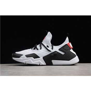 Mens Nike Air Huarache Drift BR White Black Red Running Shoes