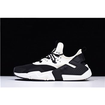 Mens Nike Air Huarache Drift White Black Trainers
