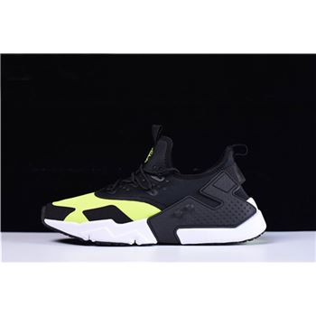 Mens and WMNS Nike Air Huarache Drift Black Volt Running Shoes