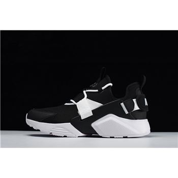 Mens and Womens Nike Air Huarache City Low Casual Shoes Black White