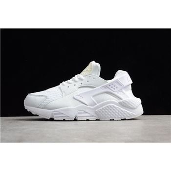 Mens and Womens Nike Air Huarache Run Big Net White Running Shoes