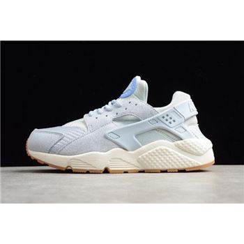 Men's and Women's Nike Air Huarache Run TXT Light Blue 818597-400