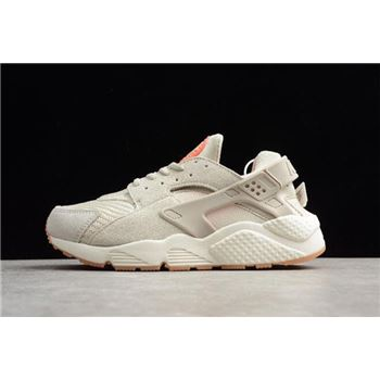 Mens and Womens Nike Air Huarache Run Textile Light Bone