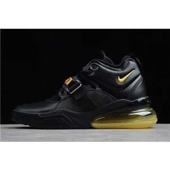 Nike Air Force 270 Black Yellow Mens Size