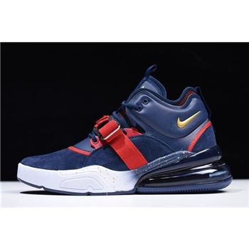 Nike Air Force 270 Dream Team Obsidian Metallic Gold Gym Red White