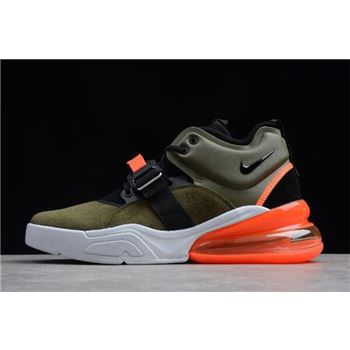 Nike Air Force 270 Medium Olive Black Challenge Red Sail