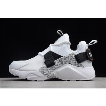 Nike Air Huarache City Low PRM Just Do It White Black Total Orange