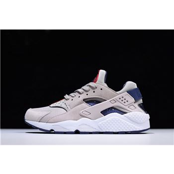 Nike Air Huarache Run Moon Particle/White-Neutral Indigo Men's Shoes AQ0553-200