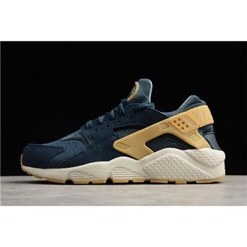 Nike Air Huarache Run SE Armory Navy Gum Yellow Blue Fox
