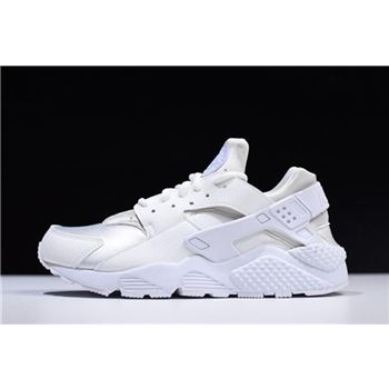 Nike Air Huarache Run Triple White Mens and Womens Size Running Shoes