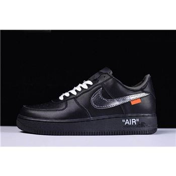Off White x MoMA x Nike Air Force 1 Low Black Metallic Silver