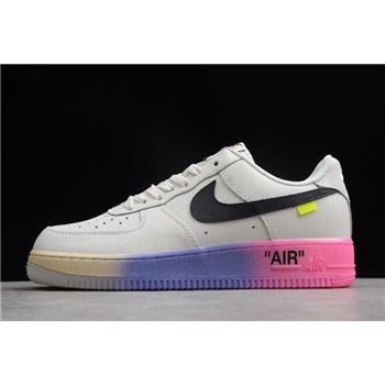 2018 Off White x Nike Air Force 1 '07 LV8 Queen Elemental Rose AJ7748-800
