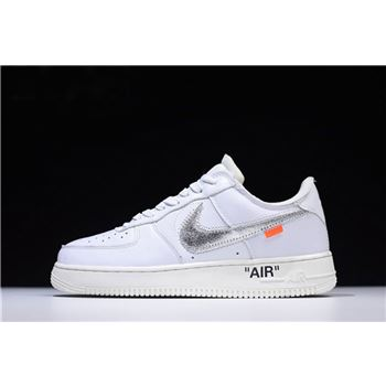 Off White x Nike Air Force 1 Low ComplexCon White Metallic Silver Sai