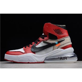 Off White x Nike Air Force 270 x Air Jordan 1 High OG White Black Varsity Red