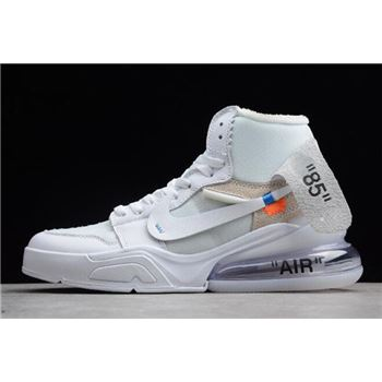 Off White x Nike Air Force 270 x Air Jordan 1 High OG White White Shoes