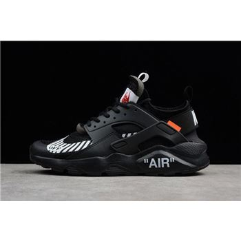 Off White x Nike Air Huarache Ultra Black White Mens Running Shoes