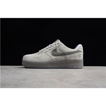 Reigning Champ x Nike Air Force 1 Low '07 LV8 Suede Light Grey/Black AA1117-118