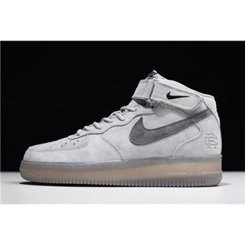 Reigning Champ x Nike Air Force 1 Mid '07 Light Grey/Black 807618-208