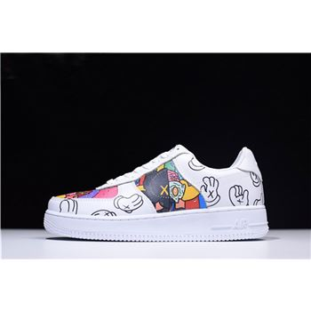 Supreme x Kaws x Nike Air Force 1 Mid Low White Graffiti AQ8099-300