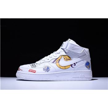 Supreme x NBA x Nike Air Force AF1 Mid White