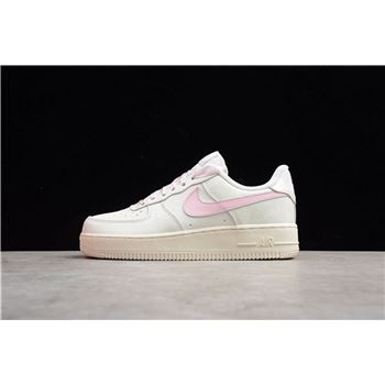 Womens Nike Air Force 1 Low Sail Artic Pink Satin