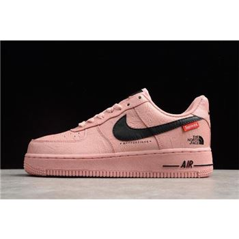 Womens Supreme x The North Face x Nike Air Force 1 07 Pink Black