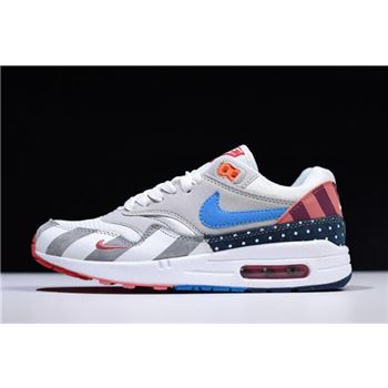 2018 Parra x Nike Air Max 1 White Multi White Pure Platinum