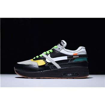 BespokeIND x Off White x Nike Air Max 1 in Black Mens Size