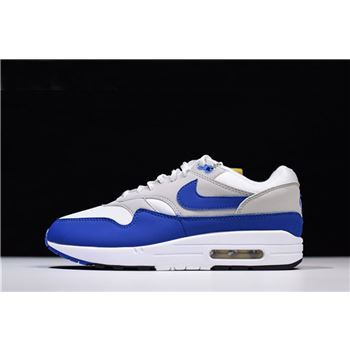 Mens Nike Air Max 1 OG Anniversary Royal White Game Royal Neutral Grey