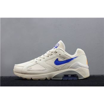 Mens Nike Air Max 180 Desert Sand Racer Blue Total Orange