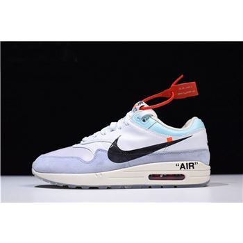 Men's Off-White x nike air max the place name meaning in urdu White/Light Blue-Black AA3827-100