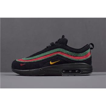 Mens and WMNS Nike Air Max 1 97 VF SW Black Green Red