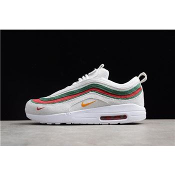 Men's and Women's air force nike taxi driver/97 VF SW White/Red-Green AJ4219-163