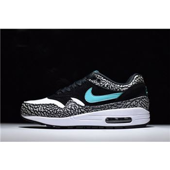 Mens and WMNS Nike Air Max 1 Atmos Elephant Black Clear Jade White