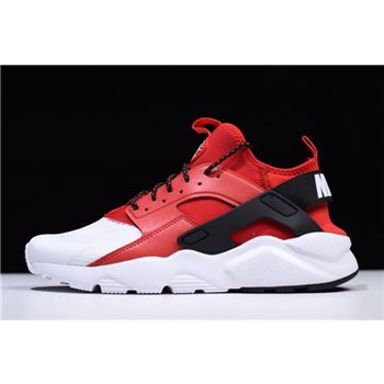 Nike Air Huarache Run Ultra White Red Black