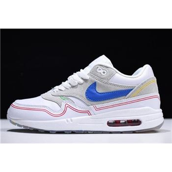 Nike Air Max 1 Centre Pompidou Pure Platinum/Royal Blue-White AV3735-002