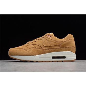 Nike Air Max 1 Premium Wheat Flax Flax Sail Gum Medium Brown