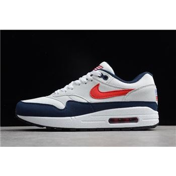 Nike Air Max 1 USA White Varsity Red Midnight Navy Light Zen Grey
