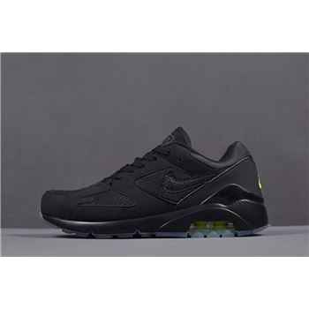 Nike Air Max 180 Black Volt Mens Runner Shoes