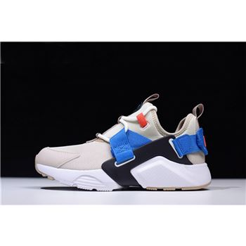 Nike WMNS Air Huarache City Low Cream Desert Sand Blue Nebula