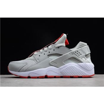 Shoe Palace x Nike Air Huarache Run Zip QS 25th Anniversary Metallic Silver/White-University Red AR9862-002