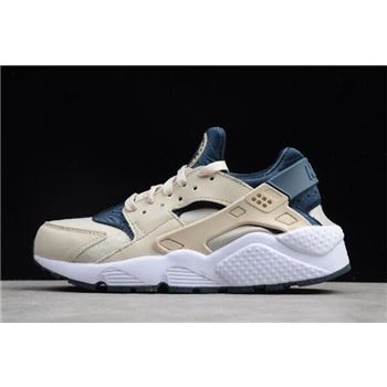 WMNS Nike Air Huarache Run Light Orewood Brown Armory Navy White