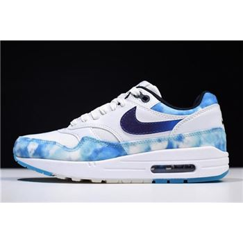 WMNS Nike Air Max 1 N7 White Court Purple Dark Obsidian
